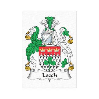Leech Family Crest Canvas Print
