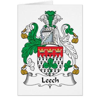 Leech Family Crest Card