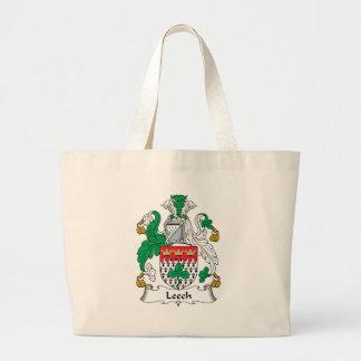 Leech Family Crest Jumbo Tote Bag