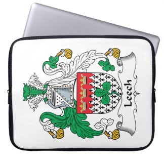 Leech Family Crest Laptop Computer Sleeves