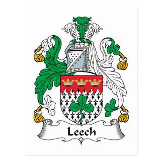 Leech Family Crest Postcard