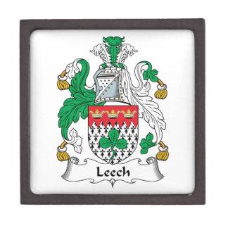 Leech Family Crest Premium Jewelry Box