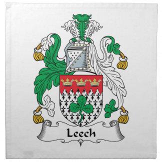 Leech Family Crest Printed Napkins