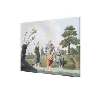 Leech Finders, from `Costume of Yorkshire' engrave Canvas Print