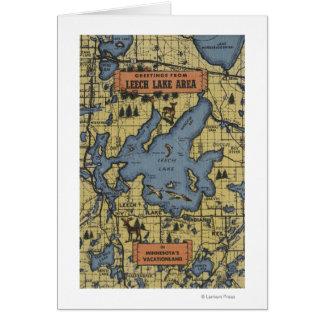 Leech Lake Area, Minnesota - Large Letter Scenes Card
