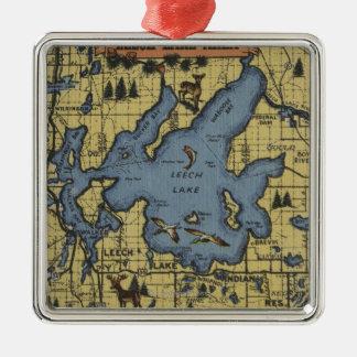 Leech Lake Area, Minnesota - Large Letter Scenes Metal Ornament