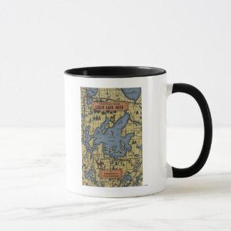 Leech Lake Area, Minnesota - Large Letter Scenes Mug