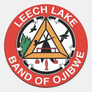 Leech Lake Band of Ojibwe Classic Round Sticker