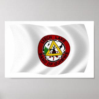 Leech Lake Reservation Flag Poster Print