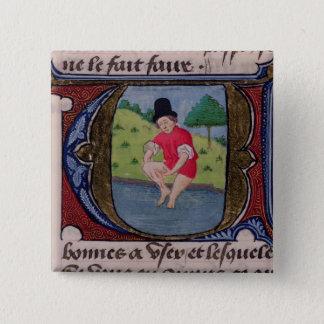 Leeching, from 'Traite de Medecine' Pinback Button