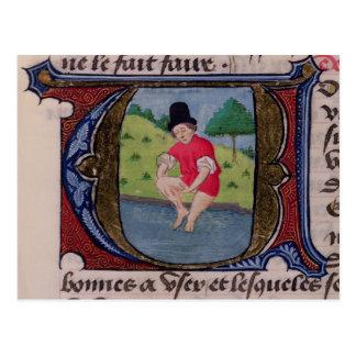 Leeching, from 'Traite de Medecine' Postcard