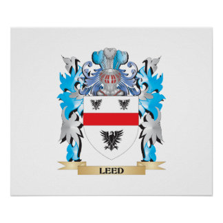 Leed Coat of Arms - Family Crest Poster