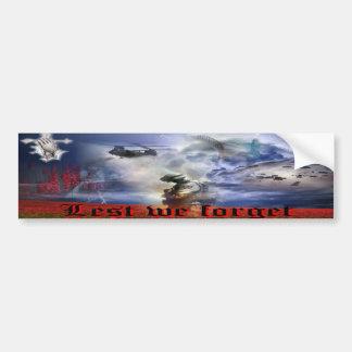 Leed We forget    SOLDIERS Pegatina De Parachoque