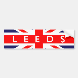 Leeds : British Flag Bumper Sticker