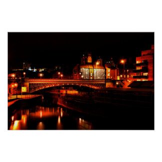 Leeds by night print