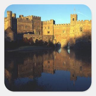 Leeds Castle, 12ma C., ciudadela normanda y Pegatina Cuadrada