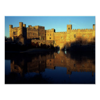Leeds Castle, 12th c., Norman stronghold and Poster