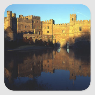 Leeds Castle, 12th c., Norman stronghold and Square Sticker