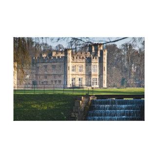 Leeds Castle Stretched Canvas Print