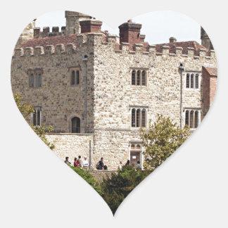 Leeds Castle, Inglaterra, Reino Unido Pegatina En Forma De Corazón