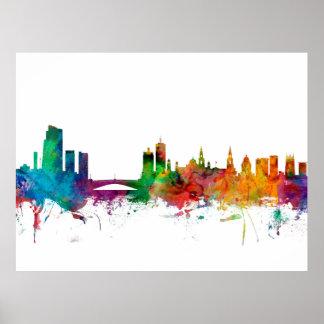 Leeds England Skyline Poster
