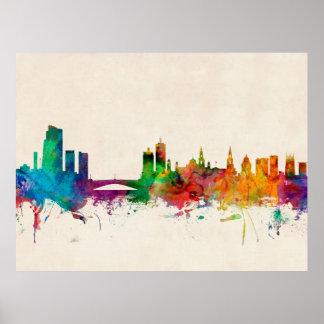 Leeds England Skyline Print