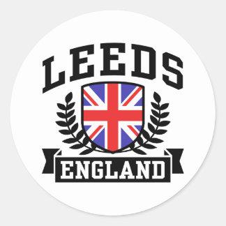 Leeds Pegatina Redonda