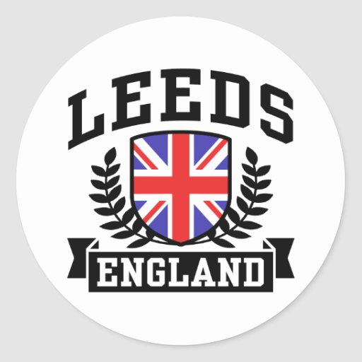 Leeds Round Stickers