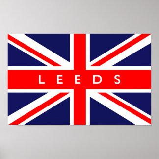 Leeds UK Flag Print