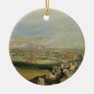 Leeds (w/c on wove paper) ceramic ornament