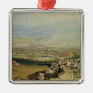 Leeds (w/c on wove paper) metal ornament