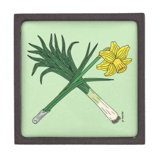Leek and Daffodil Crossed Keepsake Box