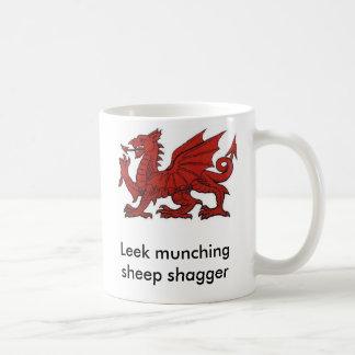 Leek munching sheep shagger classic white coffee mug