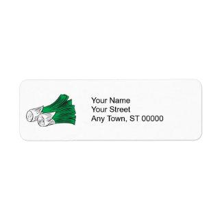 leeks custom return address labels