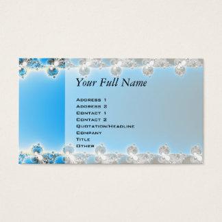 Leenece - Blue Fractal Business Card