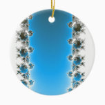 Leenece - Blue Fractal Ceramic Ornament
