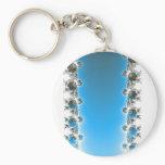 Leenece - Blue Fractal Keychain