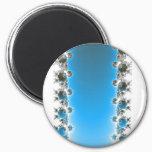 Leenece - Blue Fractal Magnet