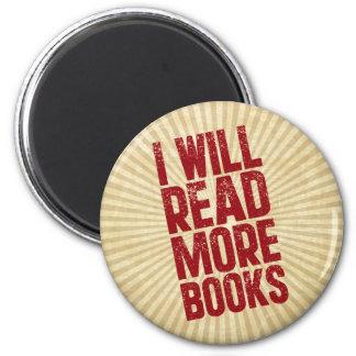 Leeré más libros imán redondo 5 cm