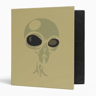 Leering eyes alien face customizable 3 ring binder