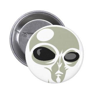 Leering eyes alien face customizable button
