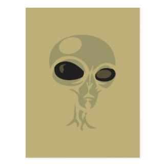 Leering eyes alien face customizable postcard