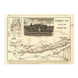 Lee's Map of the Valley of Virginia (1890) Canvas Print
