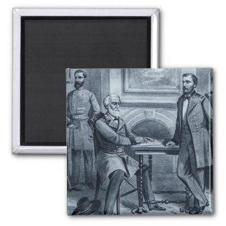 Lee's Surrender at Appomattox 1865 Vintage Magnet