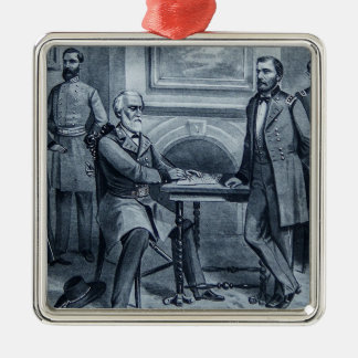 Lee's Surrender at Appomattox 1865 Vintage Metal Ornament