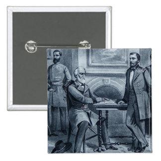 Lee's Surrender at Appomattox 1865 Vintage Pinback Button
