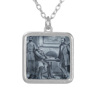 Lee's Surrender at Appomattox 1865 Vintage Silver Plated Necklace