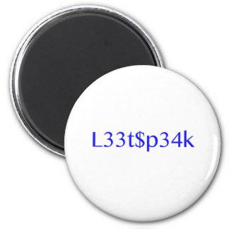 leet 2 inch round magnet