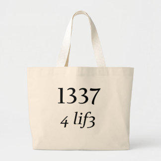 Leet 4 Life Canvas Bags