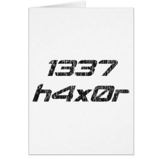 Leet Haxor 1337 Computer Hacker Greeting Card